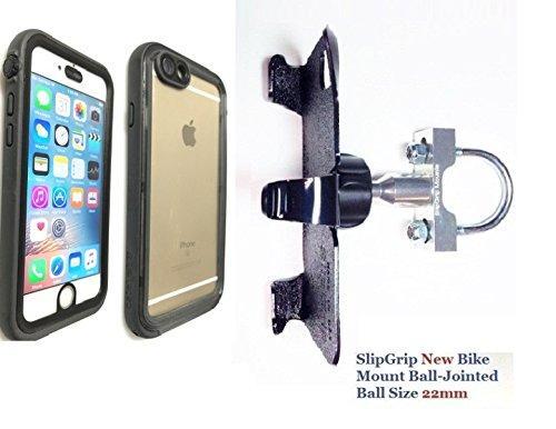 SlipGrip tornillo soporte de bicicleta para Apple Iphone 6s usando Catalizador Funda impermeable