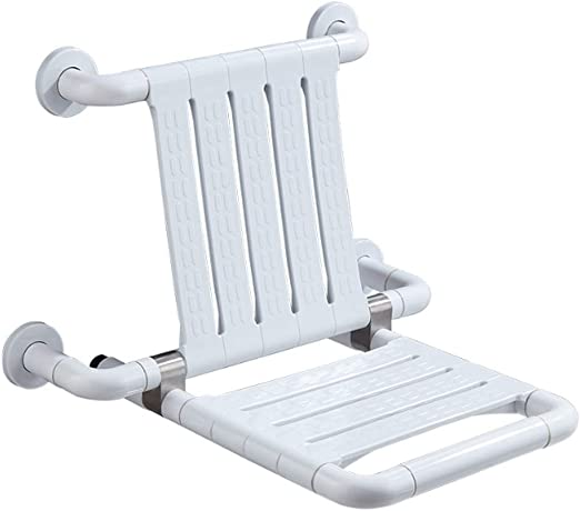 PYapron Plegable Bench Seat Ducha, Montaje En Pared Plegable ...