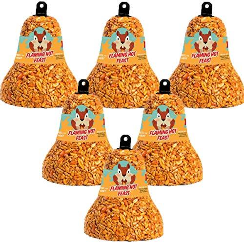 6-Pack Mr. Bird Flaming Hot Feast Wild Bird Seed Bell 8 ()