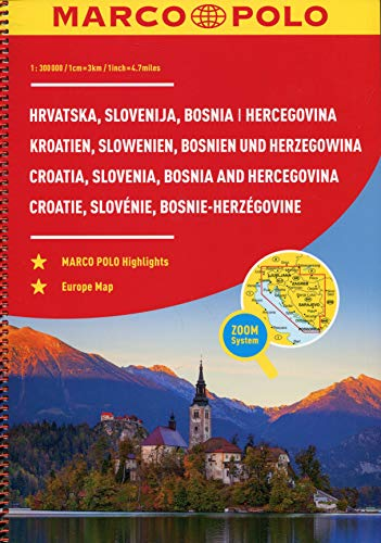 Croatia, Slovenia, Bosnia and Hercegovnia Marco Polo Road Atlas