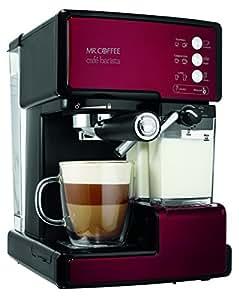 Mr. Coffee BVMC-ECMP1106 Cafe Barista Espresso Maker Machine,  Red