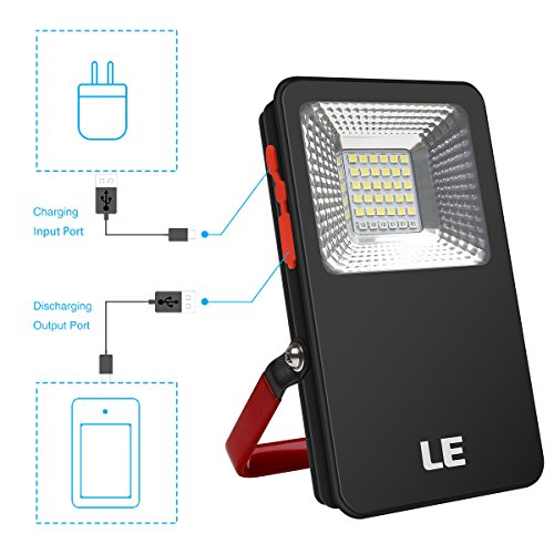 Portable 60 Leds 350lm Rechargeable Cordless Work Light: LE 10W LED Portable Cordless Flood Light Waterproof Work