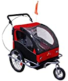 Aosom Elite II 3in1 Double Child Bike Trailer