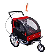 #3 - Aosom Elite II 3-in-1 Double Child Bike Trailer