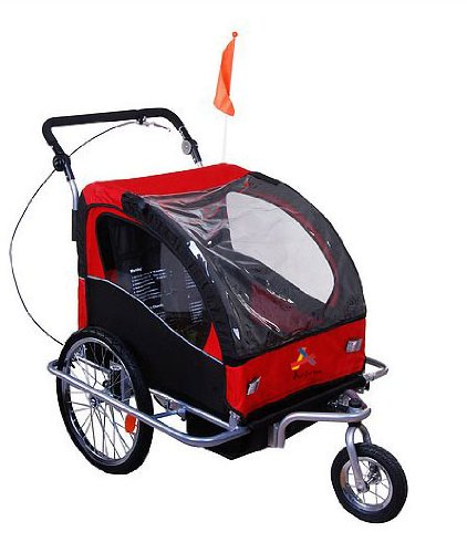 2 Child Bike Trailer Stroller - 3