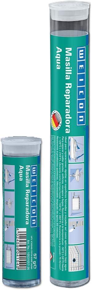 115 g blanco WEICON 10531115-36 Barra reparadora 115g Resina epoxi reparaci/ón en Piscinas Aqua Pegamento de 2 Componetes Zonas bajo Agua