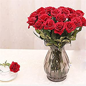 JJH 1 Branch PU Others Roses Tabletop Flower Artificial Flowers 55