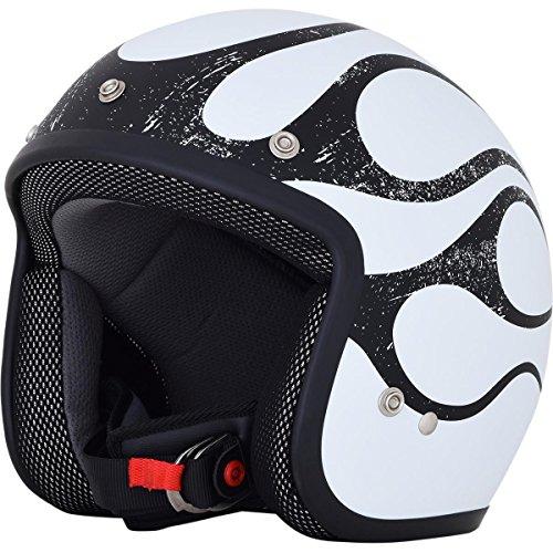 AFX 0104-2290 FX-75 Matte Black/White Flame Helmet (Black/White, Medium)