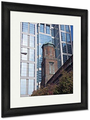 Framed Tn Nashville (Ashley Framed Prints Old And New Architecture Of Nashville, Wall Art Home Decoration, Color, 35x30 (frame size), Black Frame, AG6465523)