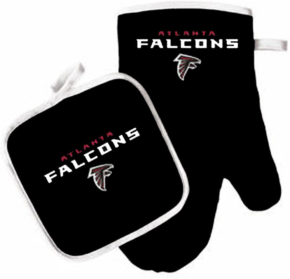 Oven Mitt and Pot Holder Set - Barbeque BBQ Kitchen Backyard Outdoors - NFL - Atlanta Falcons