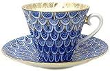Lomonosov Porcelaini Cup and Saucer Forget me Not 2pc by Lomonosov Russia