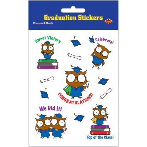 Owl Graduate Stickers (4 Shs/Pkg)