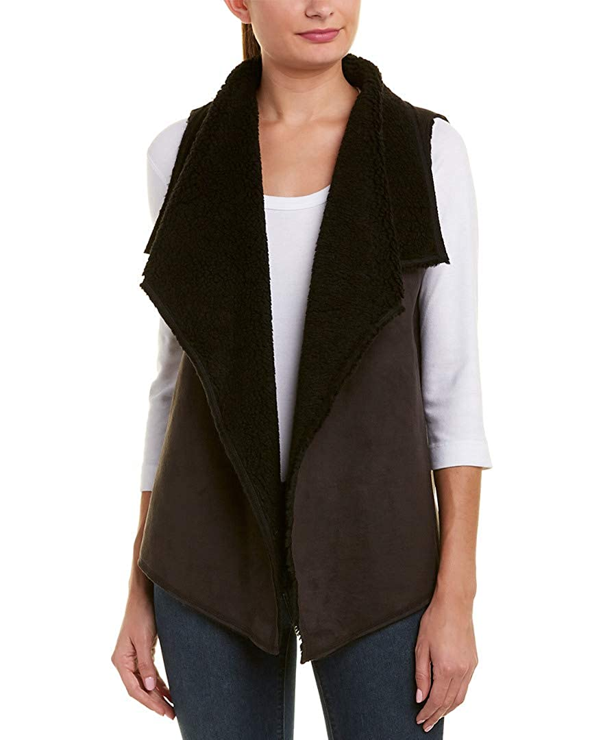 M Three Dots Womens Reversible Vest Black