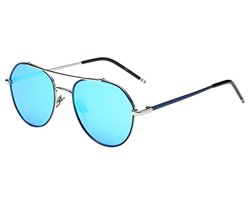 BVAGSS Clásico Vintage Piloto Gafas De Sol Polarizadas Mujer Hombre UV 400(WS034)