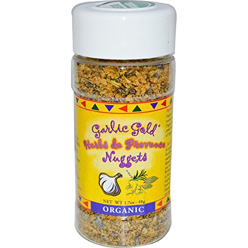 Garlic Gold USDA Certified Organic Toasted Organic Garlic Nuggets Herbs de Provence - Great Herb Seasoning (1.7 oz) (Natural Garlic Bread Sprinkle compare prices)