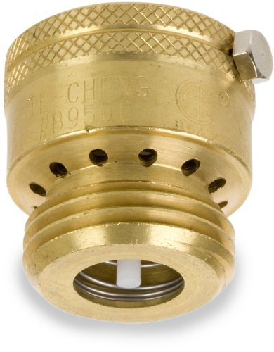 Smith-Cooper International 167L Series Brass Vacuum Breaker, Potable Water Service, Inline, 3/4