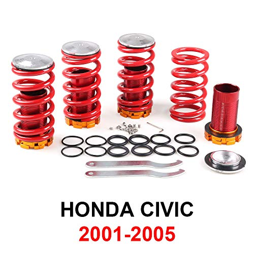 Dyno Racing Coilover Springs Kit for Honda Civic 02-05 SI EP3 Red available Coilover Suspension Coilover Springs