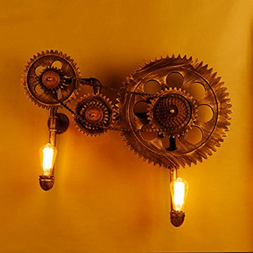 GKJ Kreative Kreative Kreative Wandleuchte Mechanische Zahnrad Wandleuchte Verlassene Fabrik Studio Bar Engineering Lampen Und Laternen 2 Kopf E27, 78  64CM (größe   78  64CM) 0bb846