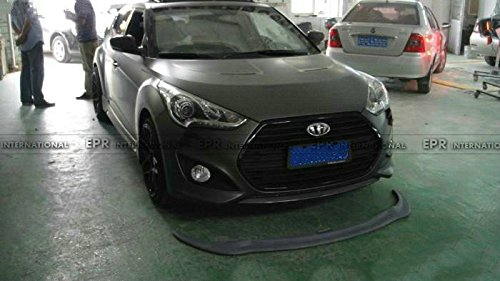 Amazon.com: Carbon Fiber Front Bumper Lip Splitter Valance Chin Bottom Diffuser For Hyundai Veloster Turbo: Automotive