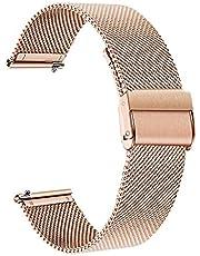 TRUMiRR Sostituzione per Fossil Women's Gen 4 Venture HR Cinturino, 18mm Cinturino Cinturino in Maglia di Acciaio Inossidabile Cinturino a sgancio rapido per Fossil Q Women's Gen 3 Venture DW 36mm