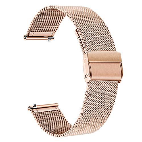 for Vivomove HR Women Men Watchband, TRUMiRR Mesh Woven Stainless Steel Watch Band Quick Release Strap Wrist Bracelet for Garmin Vivomove HR Sport/Vivomove HR Premium All Versions (Garmin 205 Replacement Band)