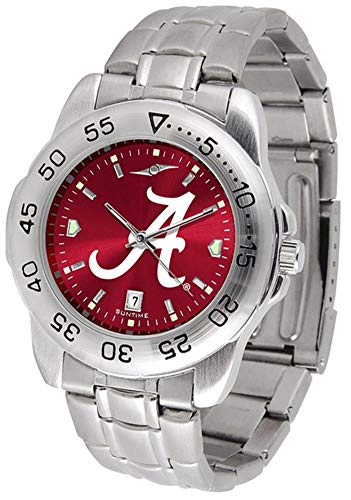 NCAA Alabama Crimson Tide Men's Anochrome Sport Watch with Stainless Steel Band