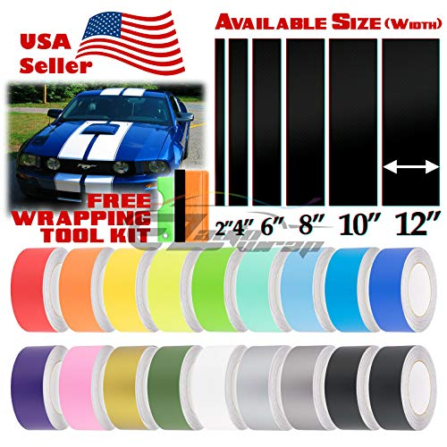 10 Inch Rally Stripes - EZAUTOWRAP Free Tool Kit 10