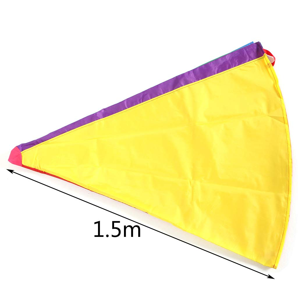 Aiyouxi 2m/3m Kids Children Rainbow Parachute Umbrella Games Outdoor Play Exercise Sports Toy Development Jump-Ballute by Aiyouxi (Image #1)