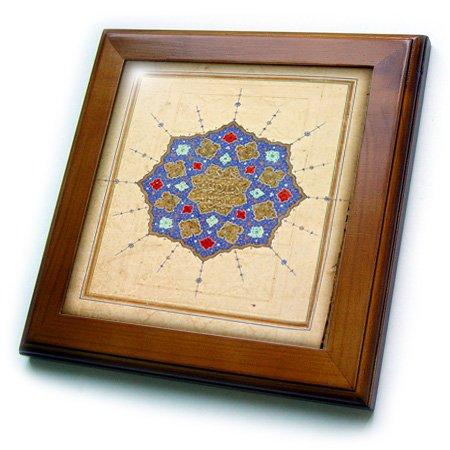 ft_174301_1 Florene - Vintage Textiles - image of 1600 iranian tapestry of quran - Framed Tiles - 8x8 Framed Tile
