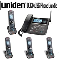 Uniden DECT 6.0 Two-Line Cordless Phone with Digital Answering System