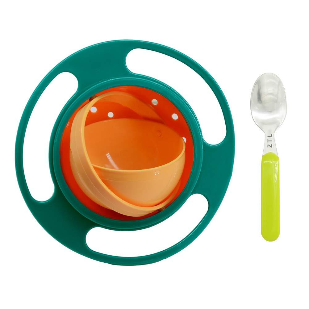 史上最も激安 (Green&Orange 1) - #1 Magic (Green Gyro Bowl Baby Orange) Kids Gyroscopic 360 Degree Rotate Spill-Proof Bowl with Spoon (Green & Orange) Green&Orange #1 B07G4791VL, 加東郡:d93b02d9 --- a0267596.xsph.ru