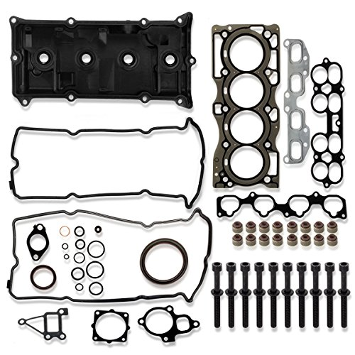 (Valve Cover & Head Gasket with Bolts Replacment For 02-2015 Nissan Altima Sentra FRONTIER ROGUE 2.5L l4 DOHC)
