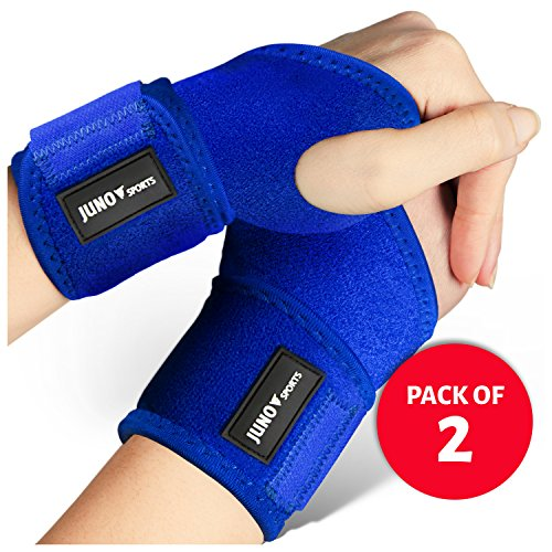 JunoSports Starry Goods111  Adjustable Athletic Wrist Brace Support for Carpal Tunnel, Tendonitis, Weightlifting
