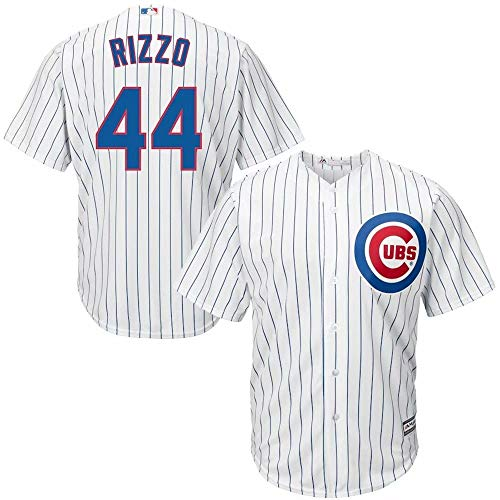 Men's Baseball Jersey Chicago Cubs #44 Rizzo T-Shirt Team Sportswear Uniform Short Sleeve Shirt for Men Women Kids Youth