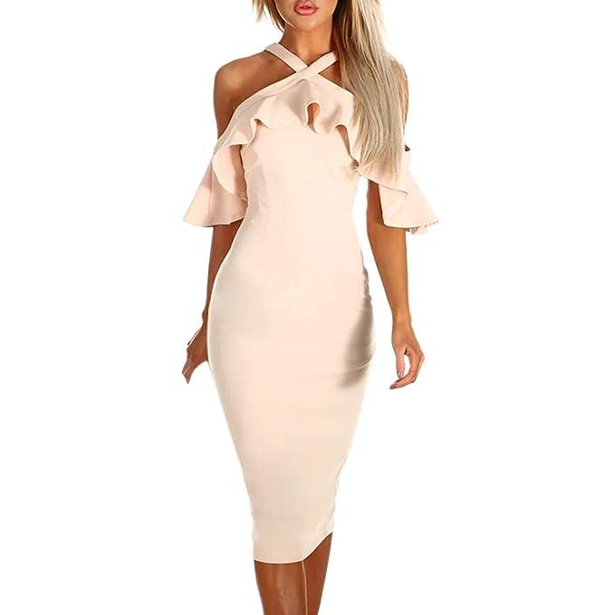 da6d843df558b ✿✿ Amlaiworld Mode Knielang Party Abendkleider Sommer Rüschen  Kleider