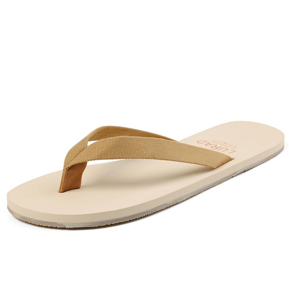 ALUK- Sandales d'été - Décontracté Antidérapant Hommes confortables Chaussons résistant à l'usure Chaussures de plage ( Couleur : Light Brown , taille : 44 ) cheap