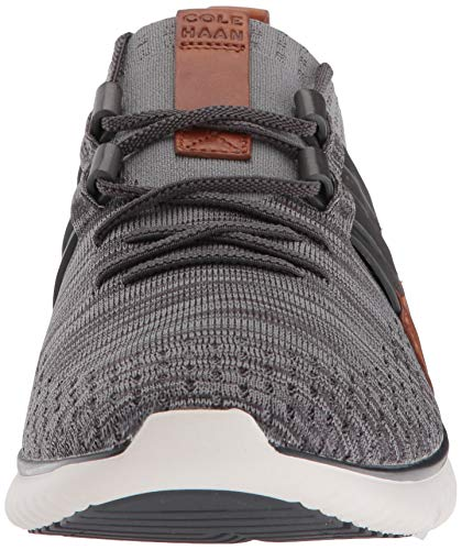 Cole Haan Men's Grand Motion Woven Stitchlite Sneaker, Magnet/Ironstone Knit/British Tan/Ivory, 9 M US