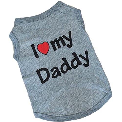Wildgirl Puppy Pet Dog I Love Daddy Casu - Puppy Love Heart Shopping Results