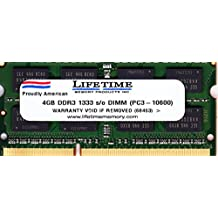 4GB DDR3-SDRAM PC3-10600 1333MHz CL9 204-pin SO-DIMM Memory Ram for Apple Macbook Pro and Imac
