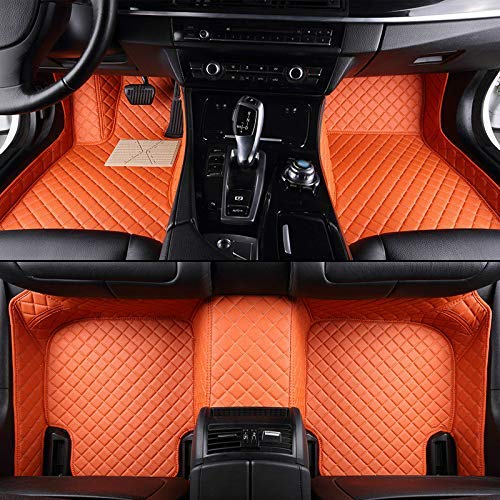 (su-automarket Car Floor Mat Front and Rear Liners Custom for Volkswagen Passat 2006-2014 Station Wagon(Orange))