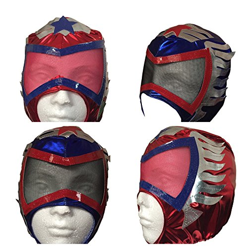 Kids Costume Mask by Madison Imports- Cosplay Super Hero Style - Blue and Red - Pack of 2 - Gaara Costume For Kids