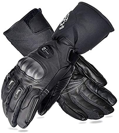 Motorcycle Winter Electric Heated Gloves Rechargeable 2X Battery Warm Hand 120W