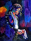 Canvas Giclee Print Famous Person Michael Jackson Painting, Modern Home Decoration Wall Art,Stretches and Framed, Ready to Hang,10*14inch