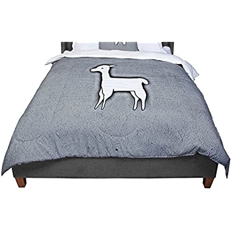 KESS InHouse Monika Strigel Llama One Grey King Cal King Comforter 104 X 88