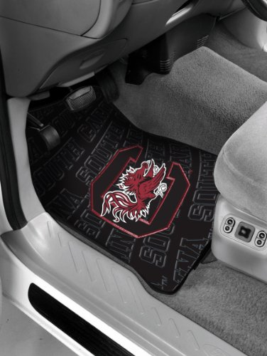 South Carolina OFFICIAL Collegiate, 25.5x 17.5 Car Floor Mat Set (Pair of 2) (Pillow Floor Carolina)