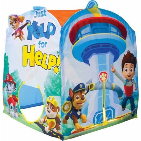 Play Tent for Kids Featuring Nickelodeon Paw Patrol Make Believe, Can be Connected to other Playhuts or Storage Home for Toys
