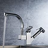 Dhpz Kitchen Faucet All-Copper Pull Hot And Cold Kitchen Sink Rotatable Sink Expansion, B