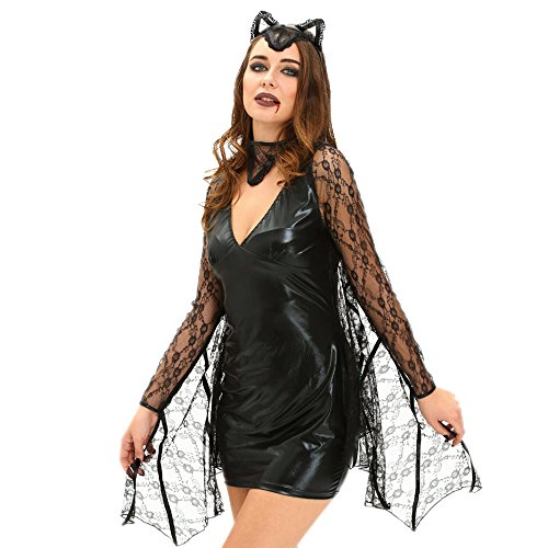 [Slocyclub Women Sexy Moonlight Bat Costume] (Bride Of Frankenstein Costume Plus Size)