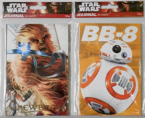 Star Wars Journals - 2 Mini Journal Bundle - BB-8 Astromech Droid & Chewbacca