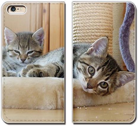 (ティアラ) Tiara AQUOS Xx3 506SH スマホケース 手帳型 ベルトなし 猫 ねこ ネコ 写真 ペット 子猫